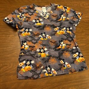 Disney Mickey Mouse Halloween Scrub Top